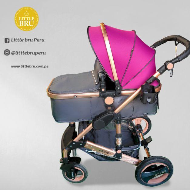Coche para bebé  Madrid 2020 Negro/Fucsia (Pre-venta)