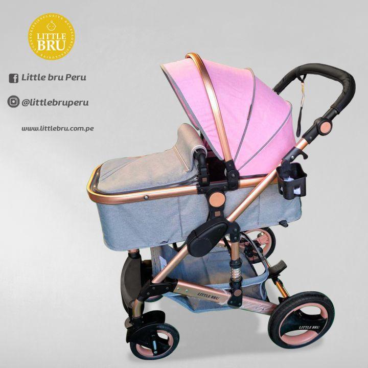 Coche para bebé  Madrid 2020 Gris/Rosado (Pre-venta)