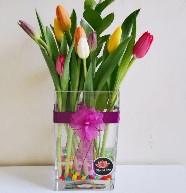 Tulipanes, Arcoíris en Jarrón