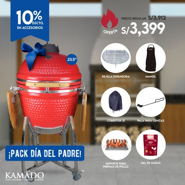 Pack Kamado 23.5 - Día del Padre