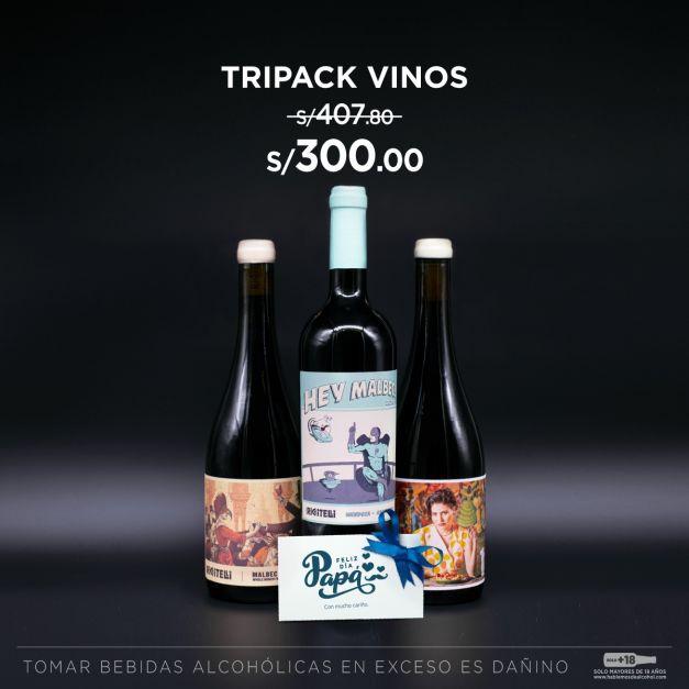 Tripack Vinos Bodega Riccitelli