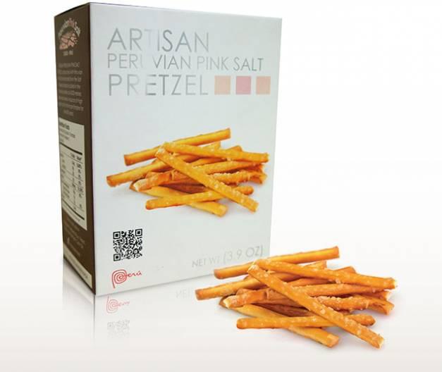 Pretzel Artesanal con Sal de Maras - Caja x 110gr