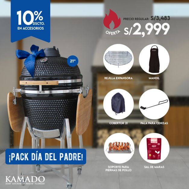 Pack Kamado 21 - Día del Padre