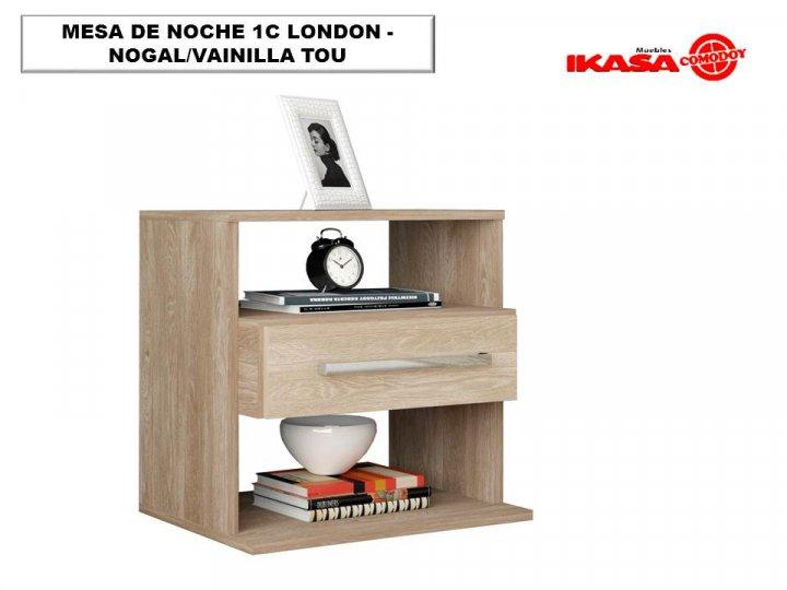 MESA DE NOCHE 1C LONDON - NOGAL/VAINILLA TOU