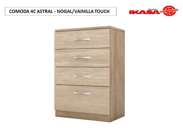COMODA 4C ASTRAL - NOGAL/VAINILLA TOUCH