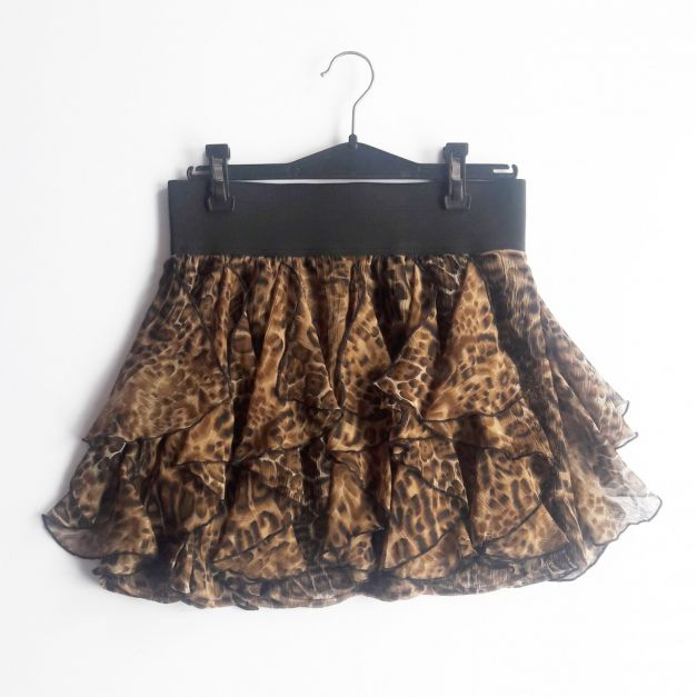 Falda estampado animal print  (#33THRIFTSHOP)