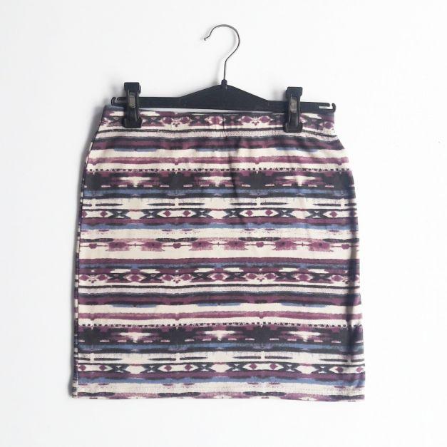 Falda tubo estampado étnico (#33THRIFTSHOP)