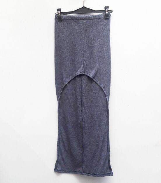 Falda gris asimetrica