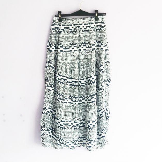 Falda larga estampado étnico (#33THRIFTSHOP)