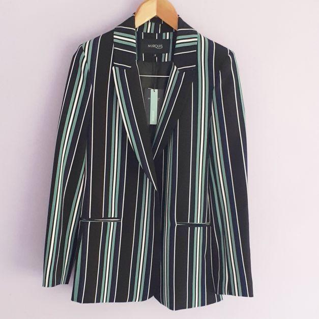 Saco rayas verde negro blanco (#33SALESHOP)