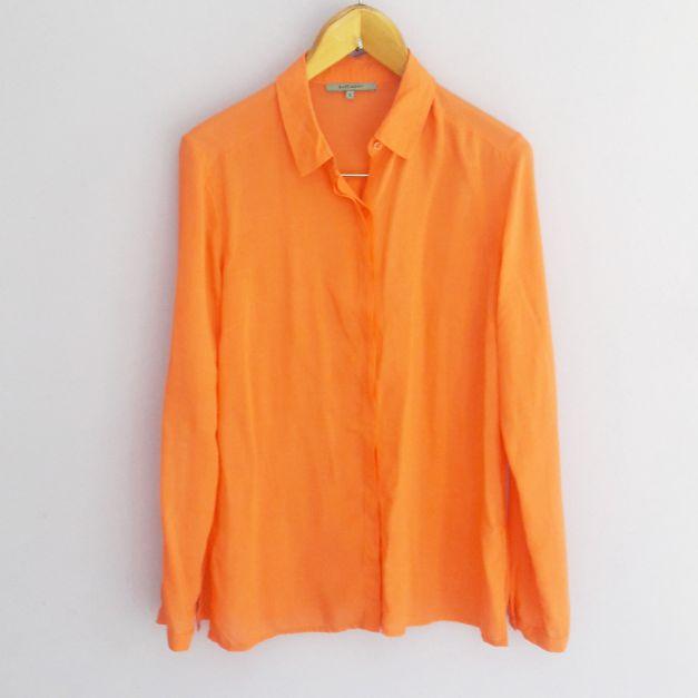 Camisa llana color naranja