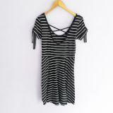Vestido de rayas negro c/ blanco