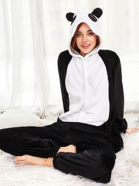 Pijama mono panda plush unisex