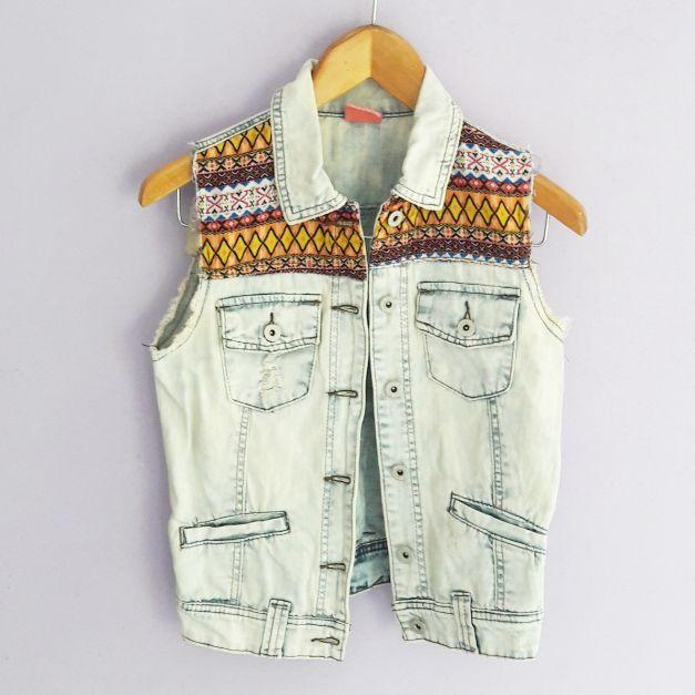 Chaleco jean lavado (#33THRIFTSHOP)