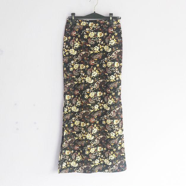 Falda larga estampado de flores (#33THRIFTSHOP)