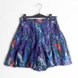 Falda con pliegues estampado de flores   (#33THRIFTSHOP)
