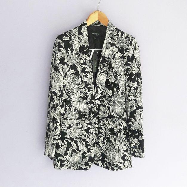 Blazer negro c/ estampado de hojas (#33SALESHOP)