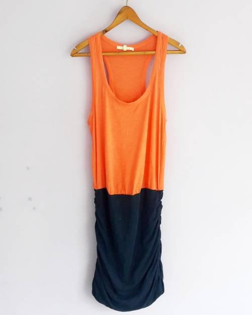 Vestido naranja con azul(#33THRIFTSHOP)