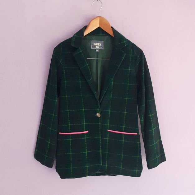Blazer estilo vintage verde oscuro