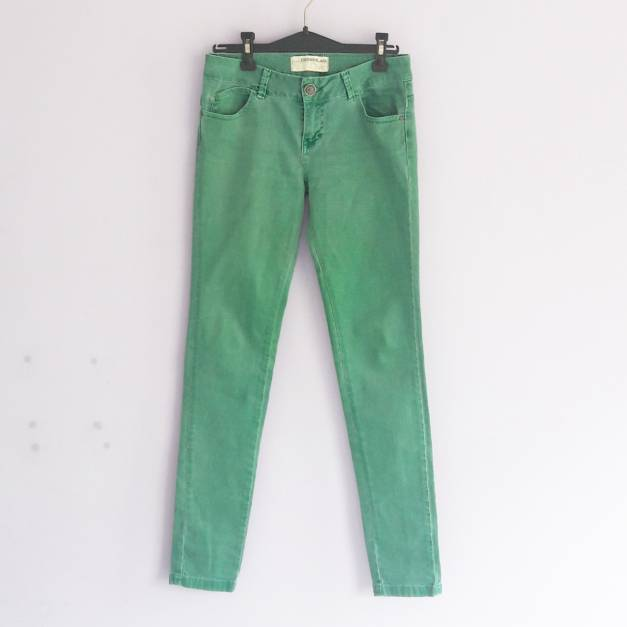 Jean recto verde/turqueza  (#33THRIFTSHOP)