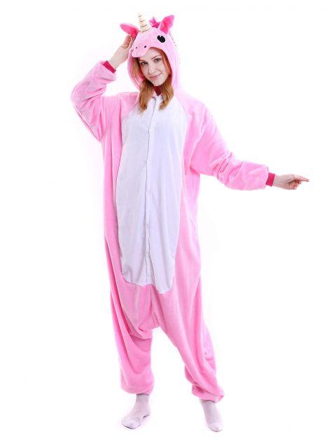 Pijama unicornio rosada