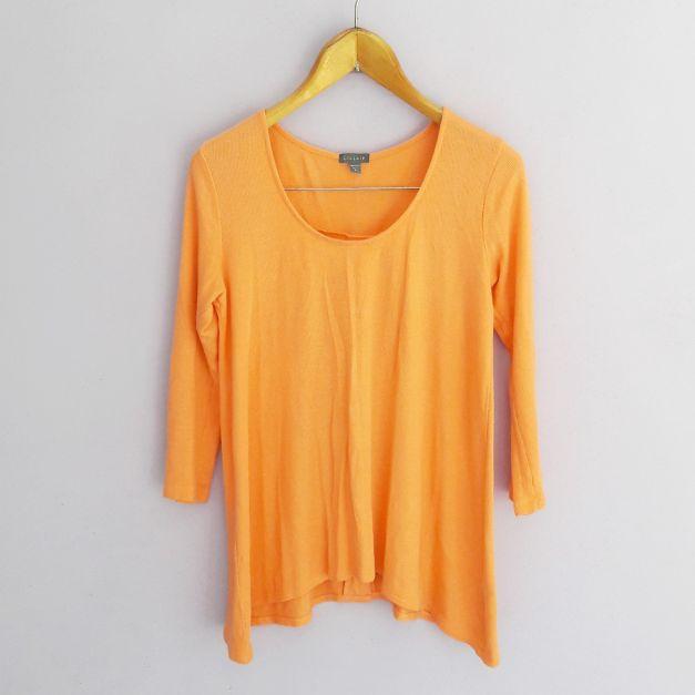 Polo manga larga naranja