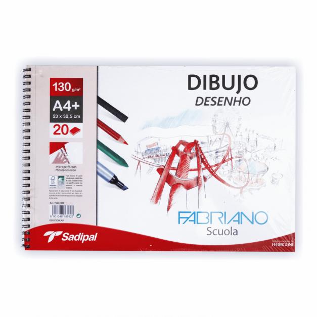 DIBUJO BLOCK ESPIRALADO MICROPE. GRANO NATURAL A4+23X32.5 20H 130G