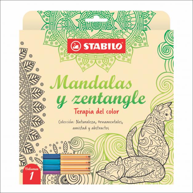 LIBRO DE MANDALAS Y ZENTANGLE VOLUMEN 1