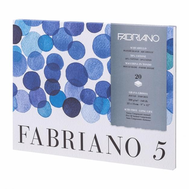 BLOCK FABRIANO 5 - 26 X 36 CM