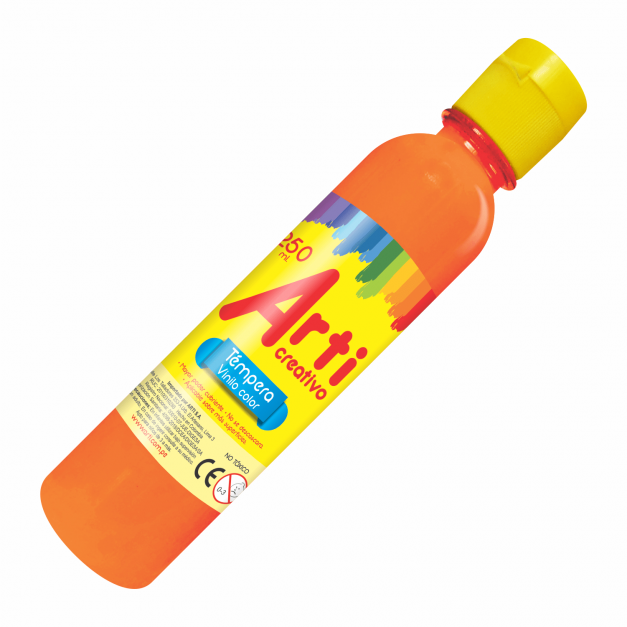 AC TÉMPERA NARANJA X 250 ML.