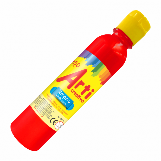 AC TÉMPERA ROJA X 250 ML.