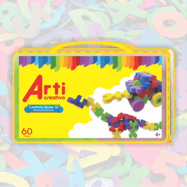 EVA CREATIVITY BLOCKS 3D - JUEGO EDUCATIVO CON ESTUCHE DE PVC