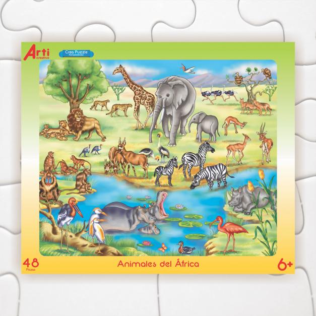 ANIMALES DEL ÁFRICA - ROMPECABEZAS X 48 PIEZAS