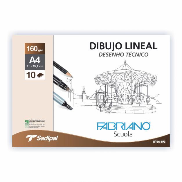 DIBUJO LINEAL SOBRE GN A4 10 HOJAS 160G