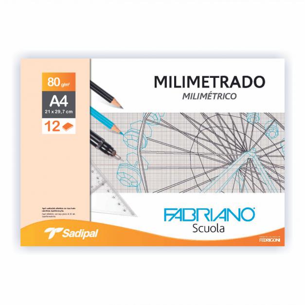 MILIMETRADO SOBRE A4 12 HOJAS  80G