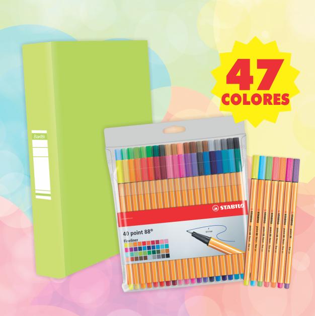 POINT 88 (47 colores + PIONER VERDE LIMÓN)