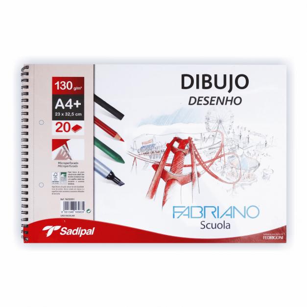 DIBUJO BLOC ESPIRAL MICROPERFORADO A4+20H RECUA+2AGUJ