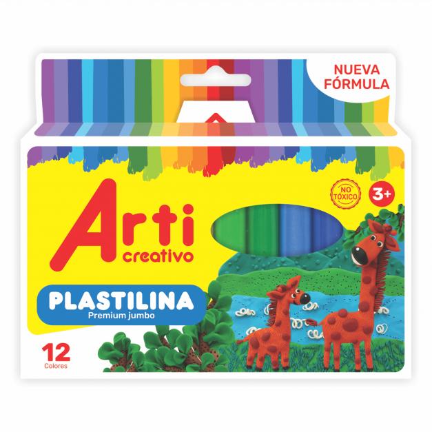 PLASTILINA JUMBO X 12