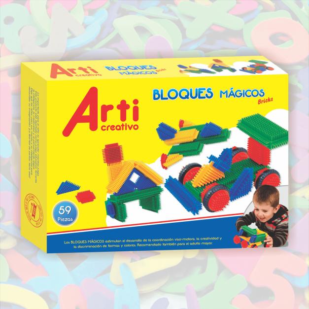 BRICKS - BLOQUES MÁGICOS X 59 PIEZAS