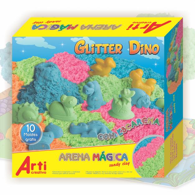 GLITTER DINO - ARENA MÁGICA