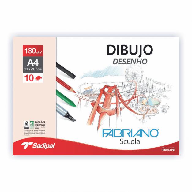 DIBUJO SOBRE GRANO NATURAL  A4 10H 130 G