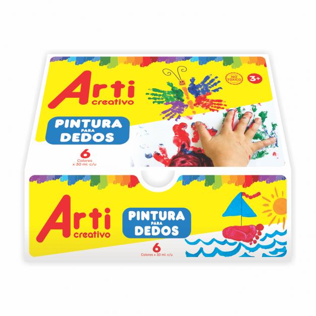 PINTURA PARA DEDOS x 6 UND.
