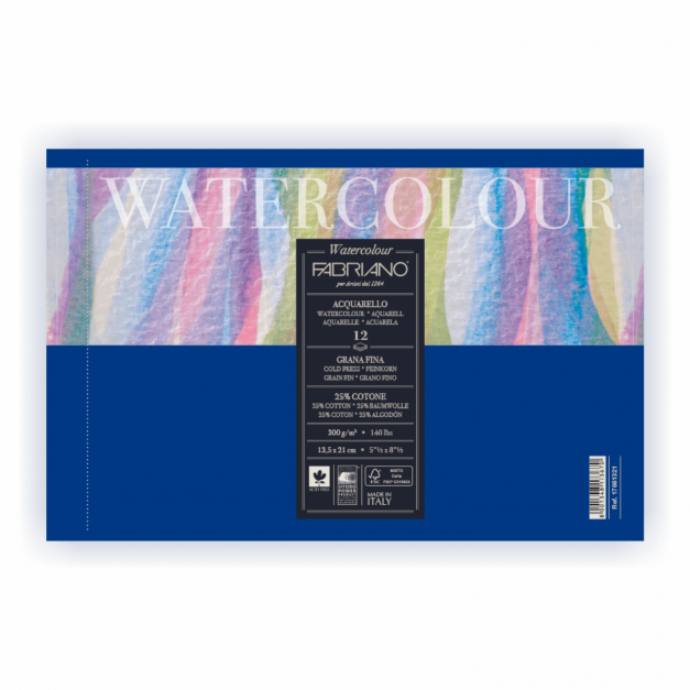 BLOCK ENCOLADO ACUARELA 26X36 (A4+) 300GR 12H.