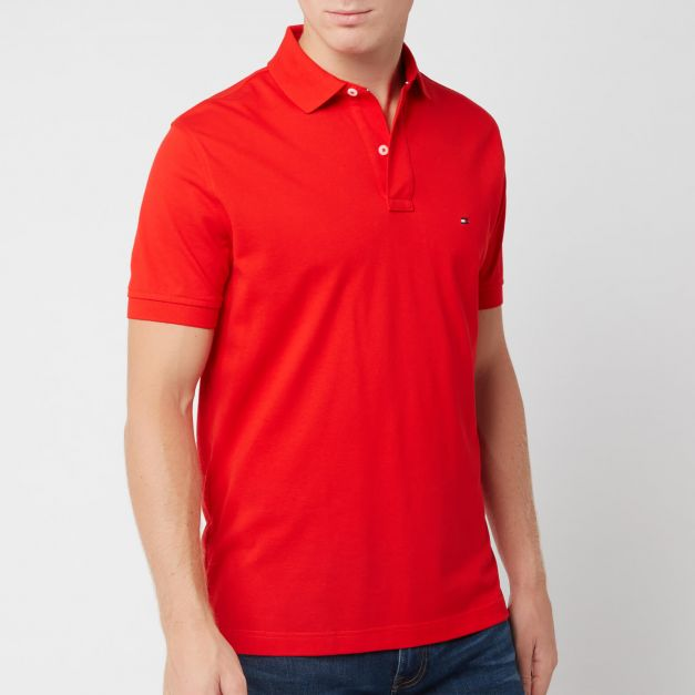 CAMISERO TOMMY HILFIGER M/C 40´S TWO PLY COTTON APPLE RED