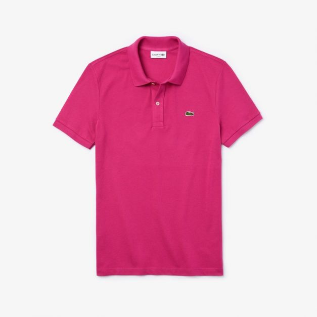 LACOSTE PIQUÉ POLO SHIRT REGULAR FIT FUCSI