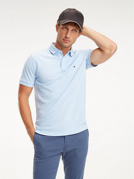 NEW POLO TOMMY HILFIGER SOLID REGULAR FIT  CLOUD