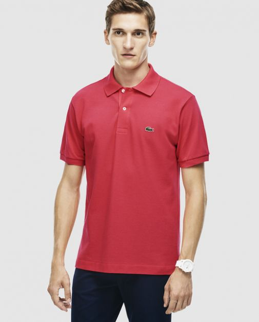 LACOSTE REGULAR FIT CORAL