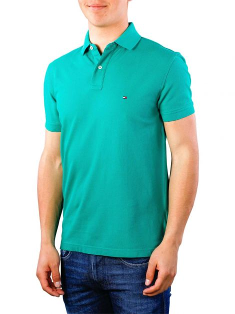 NEW POLO TOMMY HILFIGER SOLID REGULAR FIT  JADE
