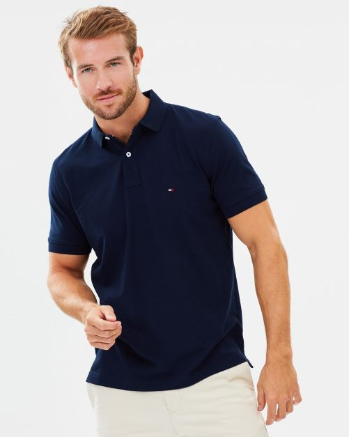 NEW POLO TOMMY HILFIGER SOLID REGULAR FIT MIDNIGHT