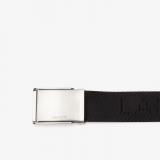 Cinturon de hombre en tela tejida con Lacoste en relieve